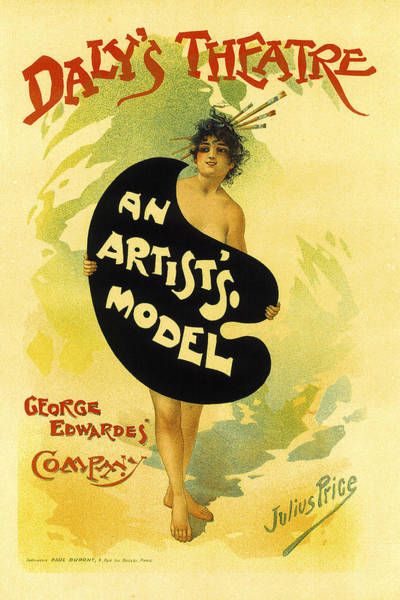 Painting - An Artists Model by Julius Price