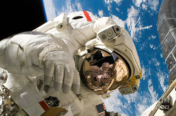 Photograph - An Astronaut Mission Specialist by Stocktrek Images