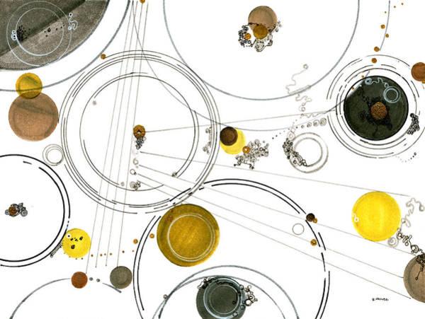Cosmos Drawing - An Astronomical Misunderstanding by Regina Valluzzi