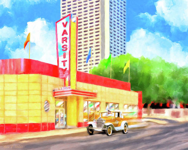 Wall Art - Mixed Media - An Atlanta Original - The Varsity by Mark Tisdale