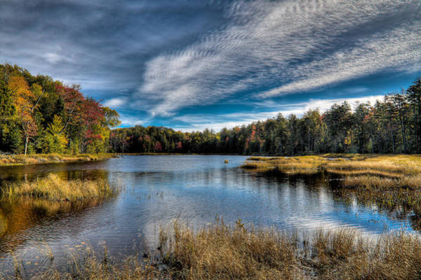 Photograph - An Autumn Day On Fly Pond by David Patterson