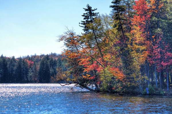 Fulton Chain Of Lakes Photograph - An Autumn Day On The Fulton Chain by David Patterson