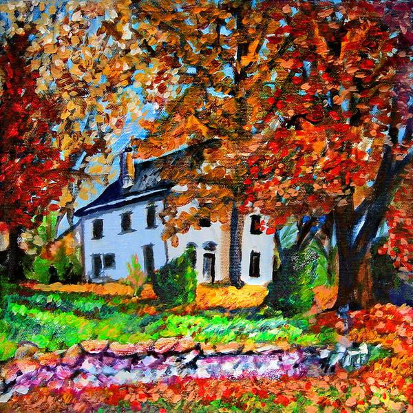 Wall Art - Painting - An Autumn Farmhouse by Laura Heggestad