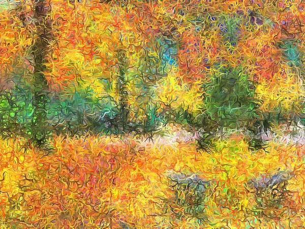 An Autumn In The Park Art Print