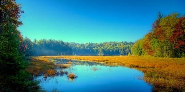 Photograph - An Autumn Morning At Cary Lake by David Patterson