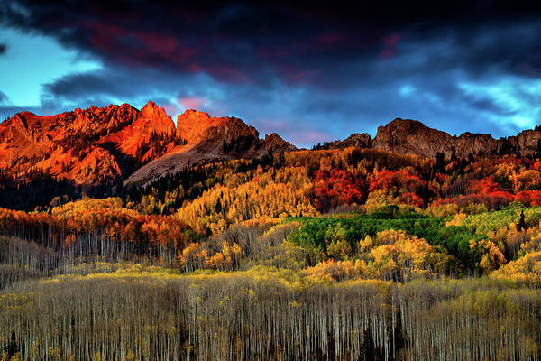 Photograph - An Autumn Sunset Over Kebler Pass by John De Bord