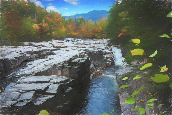 Digital Art - An Autumn View Of The Swift River, Lower Falls Area White Mounta by Rusty R Smith