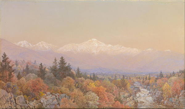 Wall Art - Painting - An Autumnal Snow On Mount Washington  by William Trost Richards