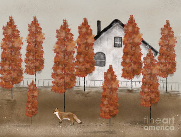 Wall Art - Painting - An Autumns Morning by Bri Buckley