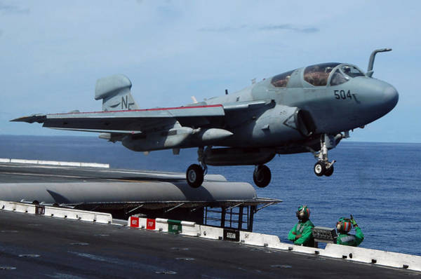 Photograph - An Ea-6b Prowler Launches by Stocktrek Images