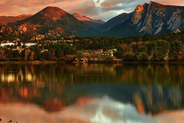 Photograph - An Early Fall Dawn On Lake Estes by John De Bord