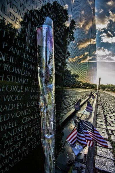Photograph - An Early Morning Look At Vietnam Veterans Memorial by Sven Brogren