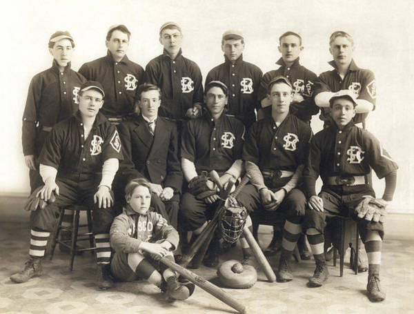 Wall Art - Photograph - An Early Sf Baseball Team by American School