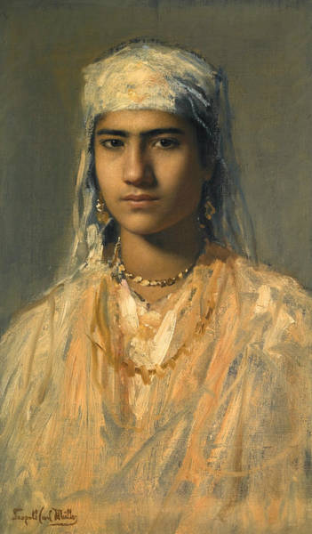 Painting - An Egyptian Girl by Leopold Muller