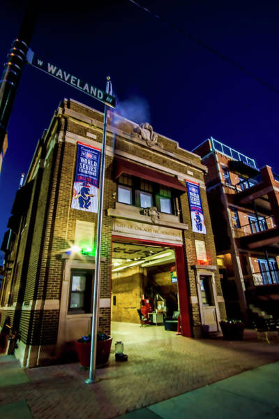 Photograph - An Empty Firehouse By Wrigley Field by Sven Brogren