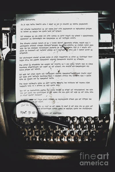 Coverts Photograph - An Encryption To Break The Oppression by Jorgo Photography - Wall Art Gallery