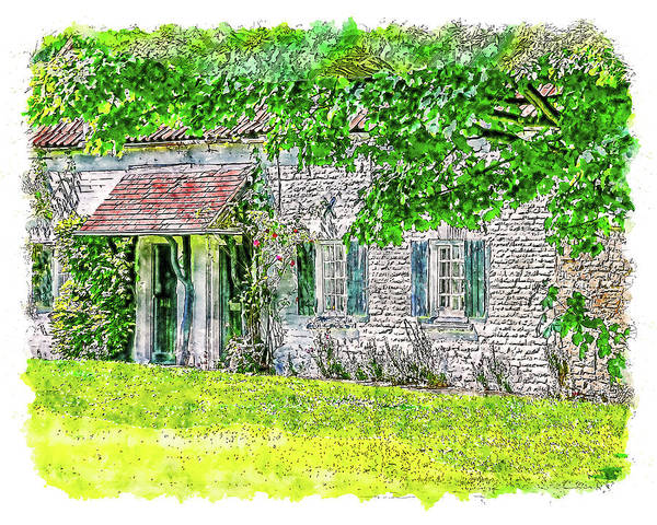 Digital Art - An English Cottage by Anthony Murphy