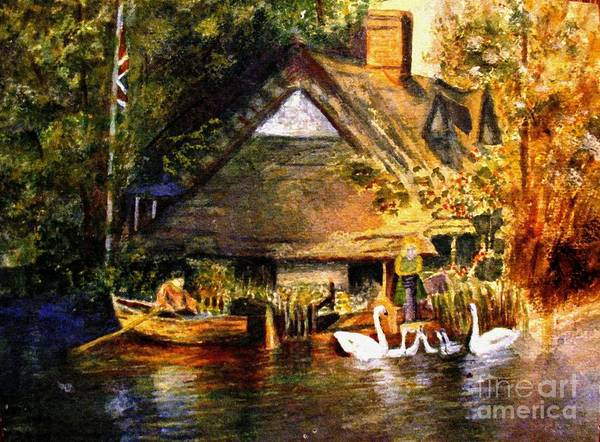 Wall Art - Painting - An English Country Scene by Hazel Holland