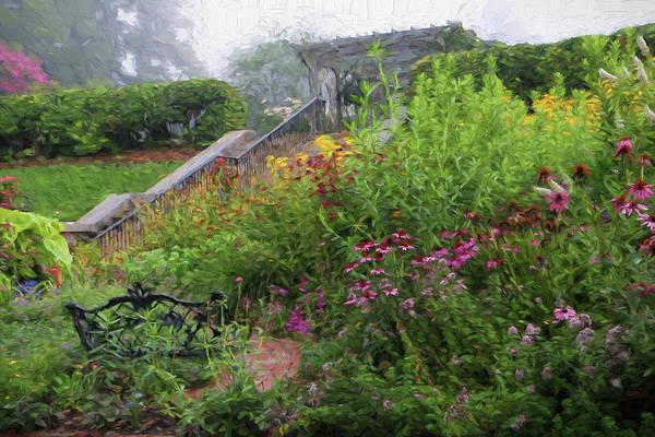 Photograph - An English Garden In The Mountains Of North Carolina by Carol Montoya