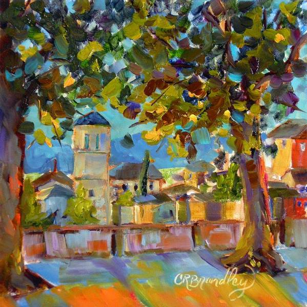 Assisi Painting - An Evening In Assisi by Chris Brandley