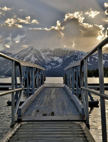 Photograph - An Evening On Jackson Lake by Dan Sproul