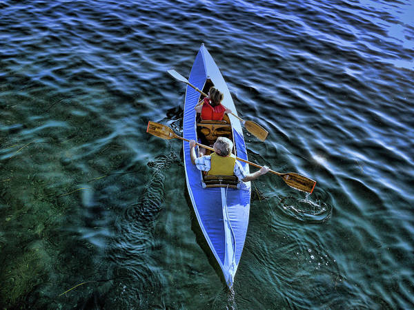 Photograph - An Evening Row by Lawrence Christopher