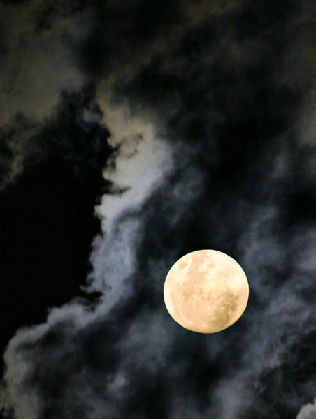 Lurking Photograph - An Evil Face In The Clouds by Kristin Elmquist