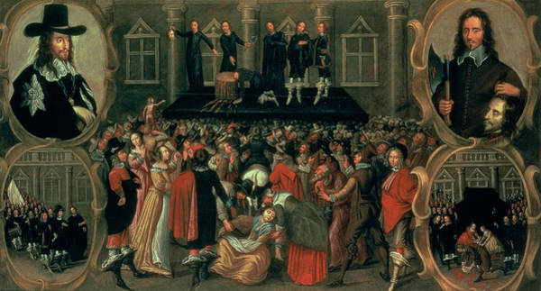 Platform Painting - An Eyewitness Representation Of The Execution Of King Charles I by John Weesop