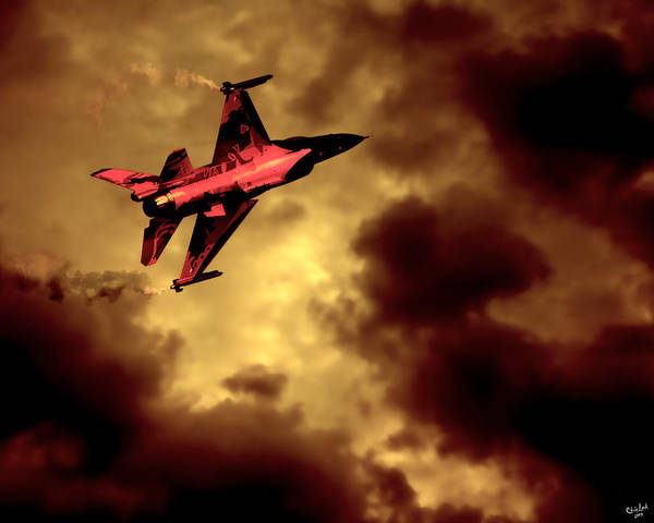 Photograph - An F-16 Flies Through Hell by Chris Lord