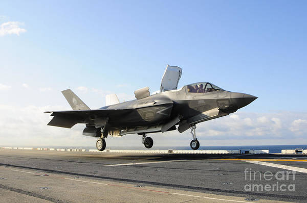 Landing Gear Photograph - An F-35b Lightning II Lifts by Stocktrek Images