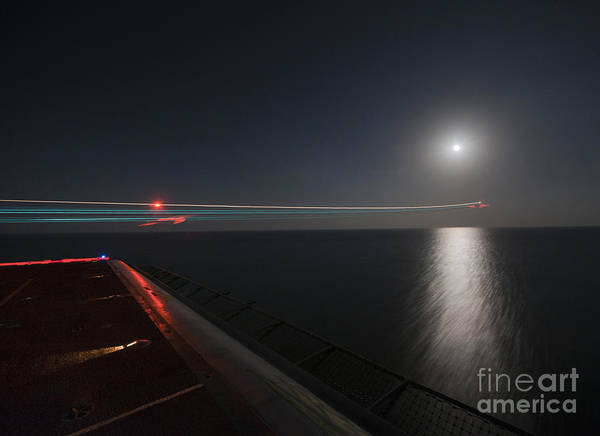 A-18 Hornet Wall Art - Painting - An F A-18 Hornet Launches. by Celestial Images