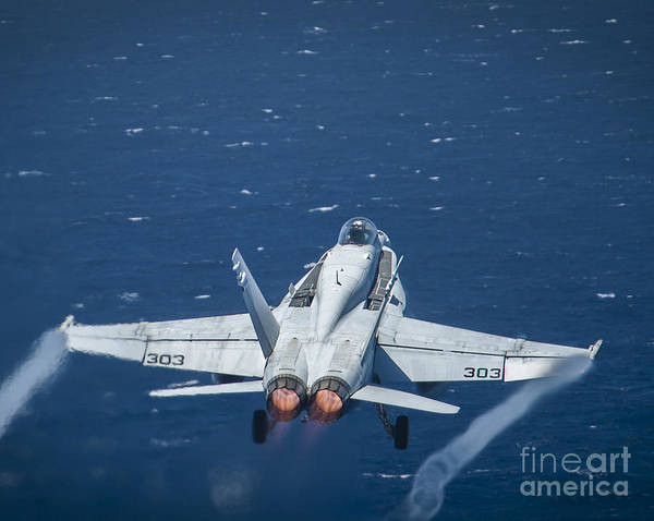 Flight Deck Painting - An F A-18c Super Hornet by Celestial Images
