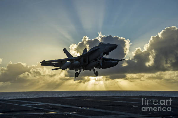 Flight Deck Painting - an F A-18E Super Hornet by Celestial Images