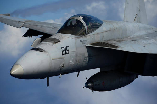 In Service Painting - An F A-18e Super Hornet Participates In An Air Power Demonstration Us Navy by Celestial Images