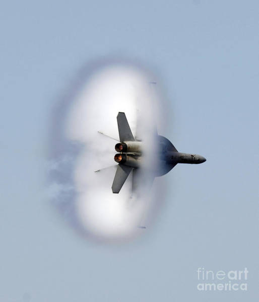 Supersonic Speed Wall Art - Photograph - An Fa-18f Super Hornet Completes by Stocktrek Images