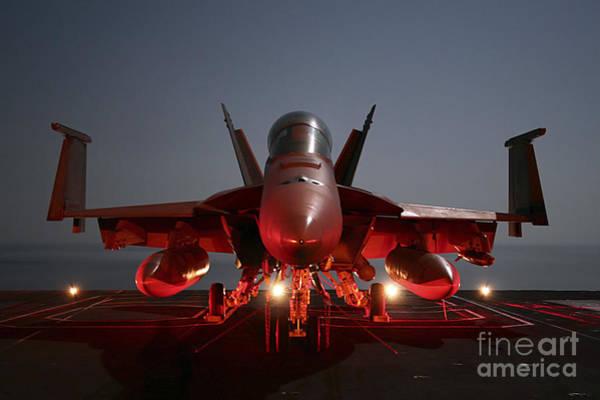 A-18 Hornet Wall Art - Photograph - An Fa-18f Super Hornet Parked by Stocktrek Images
