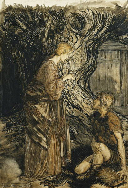 Prince Arthur Painting - An Illustration To The Rheingold And The Valkyrie by Arthur Rackham