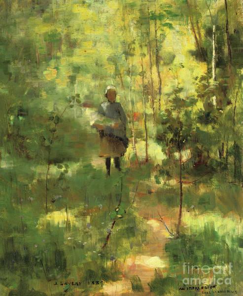 Dappled Light Painting - An Impression Dans La Sous Bois by John Lavery