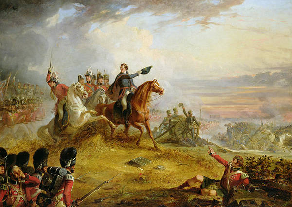 Leadership Wall Art - Painting - An Incident At The Battle Of Waterloo by Thomas Jones Barker
