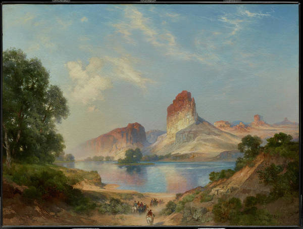 Painting - An Indian Paradise , Green River, Wyoming by Thomas Moran