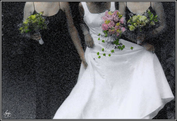 Photograph - An Intimate Moment At The Wedding by Wayne King