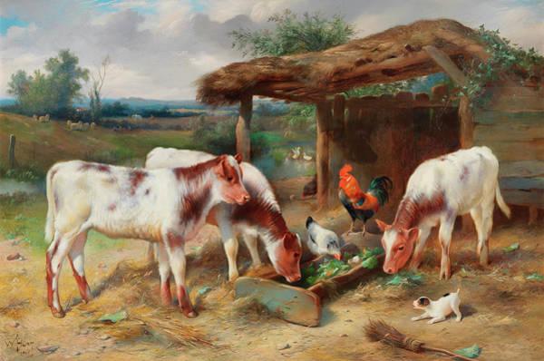 Breeding Painting - An Intruder by Edgar Hunt