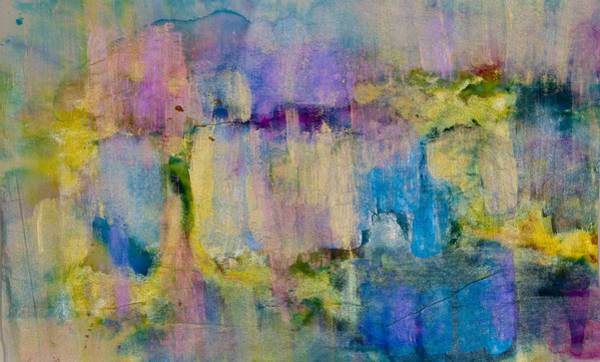 An Iridescent Oil Slick  Art Print by Don  Wright