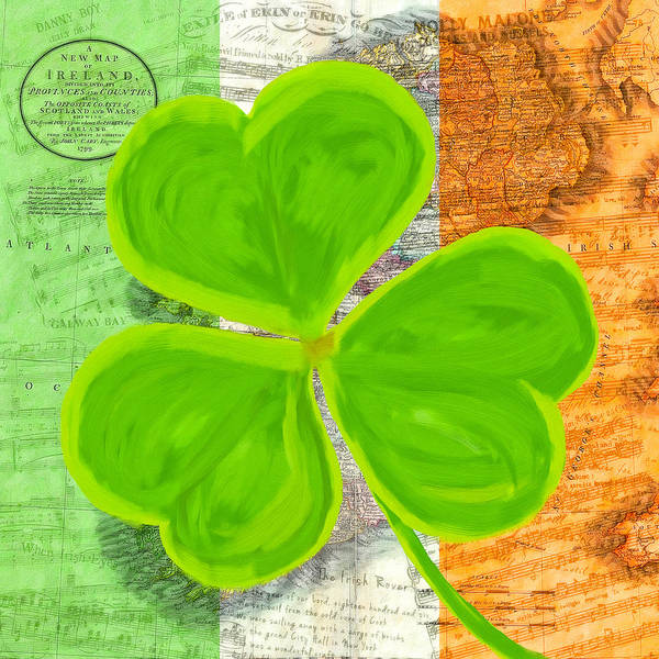 Mixed Media - An Irish Shamrock Collage by Mark Tisdale