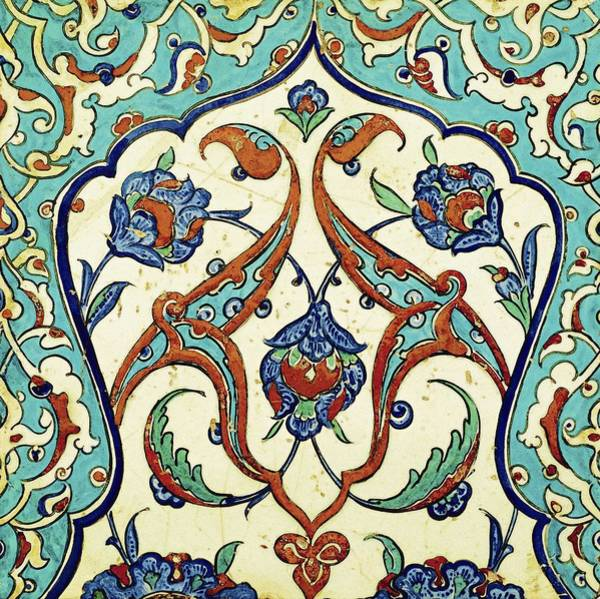 Seamless Painting - An Iznik Polychrome Tile, Turkey, Circa 1580, By Adam Asar, No 20k by Adam Asar