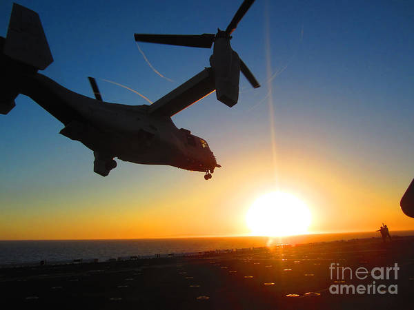 Painting - An Mv-22 Osprey Tilt-rotor Aircraft by Celestial Images