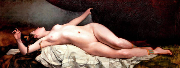 Wall Art - Painting - An Odalisque by Cyprien Auguste Miguel