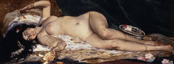 Lady Slipper Wall Art - Painting - An Odalisque by Ferdinand Roybet