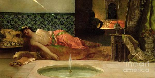 Drapes Painting - An Odalisque In A Harem by Benjamin Constant
