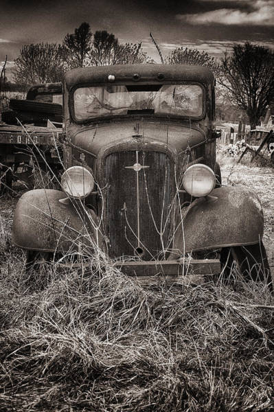 Photograph - An Old Chevy Truck by Dick Pratt